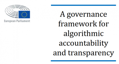 Publication of European Parliament report on Algorithmic Accountability