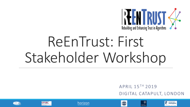 1st ReEnTrust Stakeholder Workshop